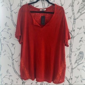 Tommy Hilfiger Denim Red T Shirt - Size 3X